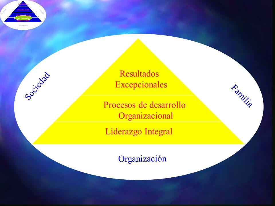 Sociedad Familia Organización Liderazgo Integral Resultados Excepcionales Procesos de desarrollo Organizacional