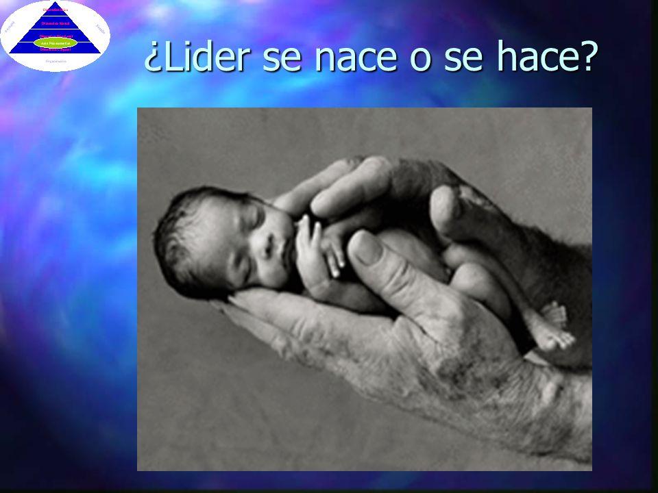 ¿Lider se nace o se hace?