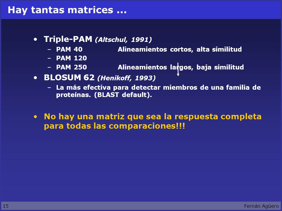 15Fernán Agüero Hay tantas matrices...