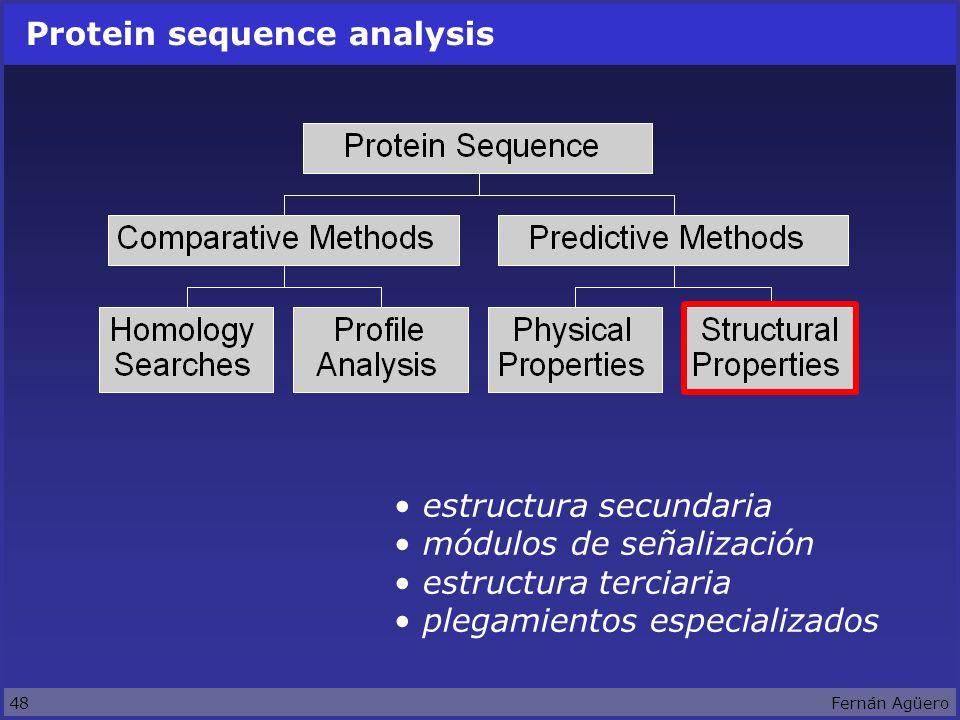 48Fernán Agüero Protein sequence analysis estructura secundaria módulos de señalización estructura terciaria plegamientos especializados
