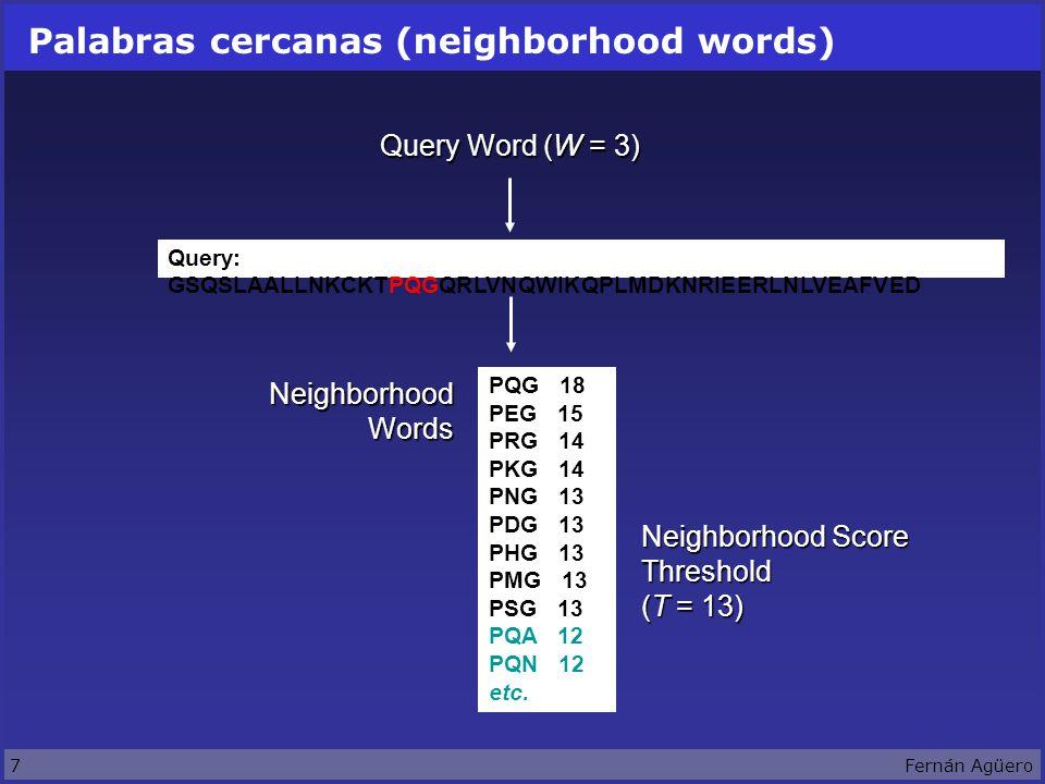 28Fernán Agüero CD-Search (RPS-BLAST) Compara una secuencia contra una colección de profiles.