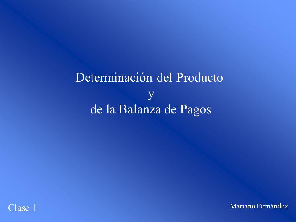 Determinación del Producto y de la Balanza de Pagos Clase 1 Mariano Fernández