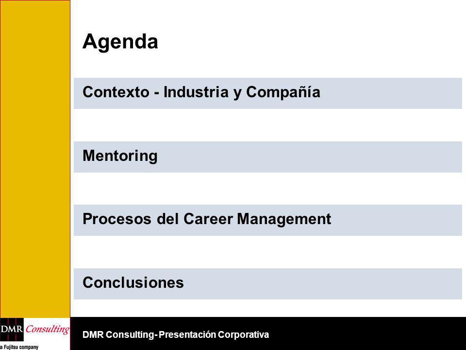 DMR Consulting- Presentación Corporativa Agenda Contexto - Industria y Compañía Mentoring Procesos del Career Management Conclusiones