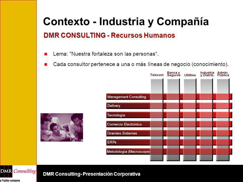 DMR Consulting- Presentación Corporativa Contexto - Industria y Compañía Lema: