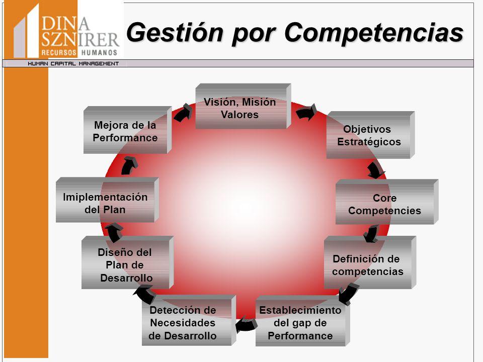 Definición de competencias Establecimiento del gap de Performance Diseño del Plan de Desarrollo Detección de Necesidades de Desarrollo Imiplementación