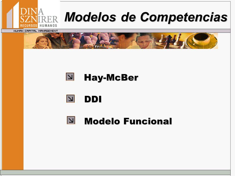 Hay-McBer Hay-McBer DDI DDI Modelo Funcional Modelo Funcional Modelos de Competencias