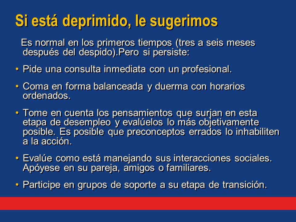 Es normal en los primeros tiempos (tres a seis meses después del despido).Pero si persiste: Pide una consulta inmediata con un profesional.