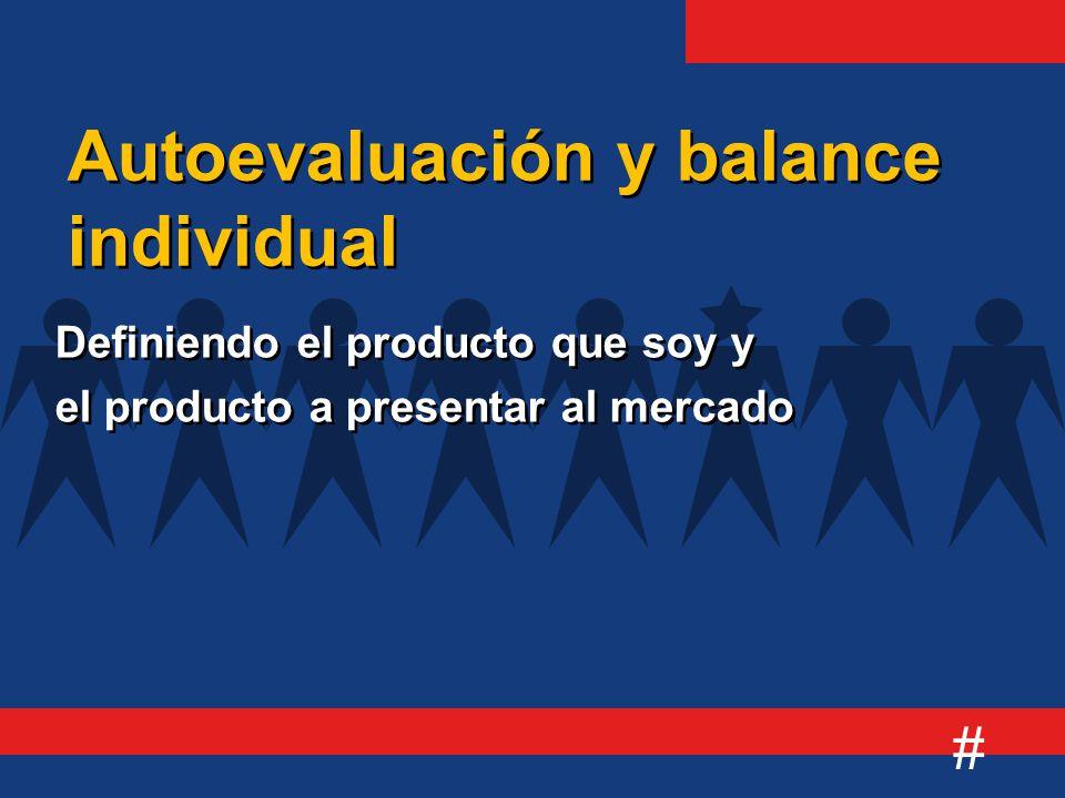 # Definiendo el producto que soy y el producto a presentar al mercado Definiendo el producto que soy y el producto a presentar al mercado Autoevaluación y balance individual