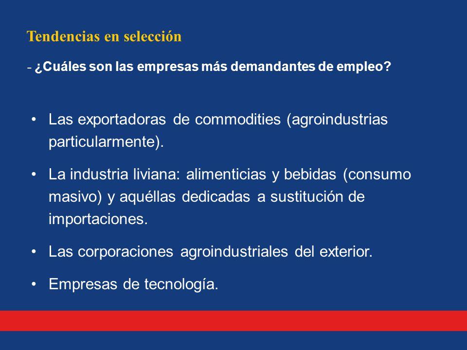 Tendencias en selección - ¿Cuáles son las empresas más demandantes de empleo.