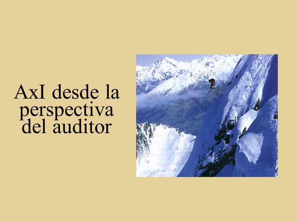 AxI desde la perspectiva del auditor