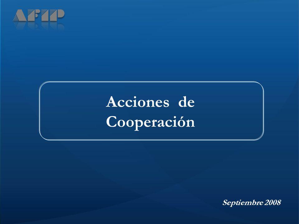 Septiembre 2008 Acciones de Cooperación