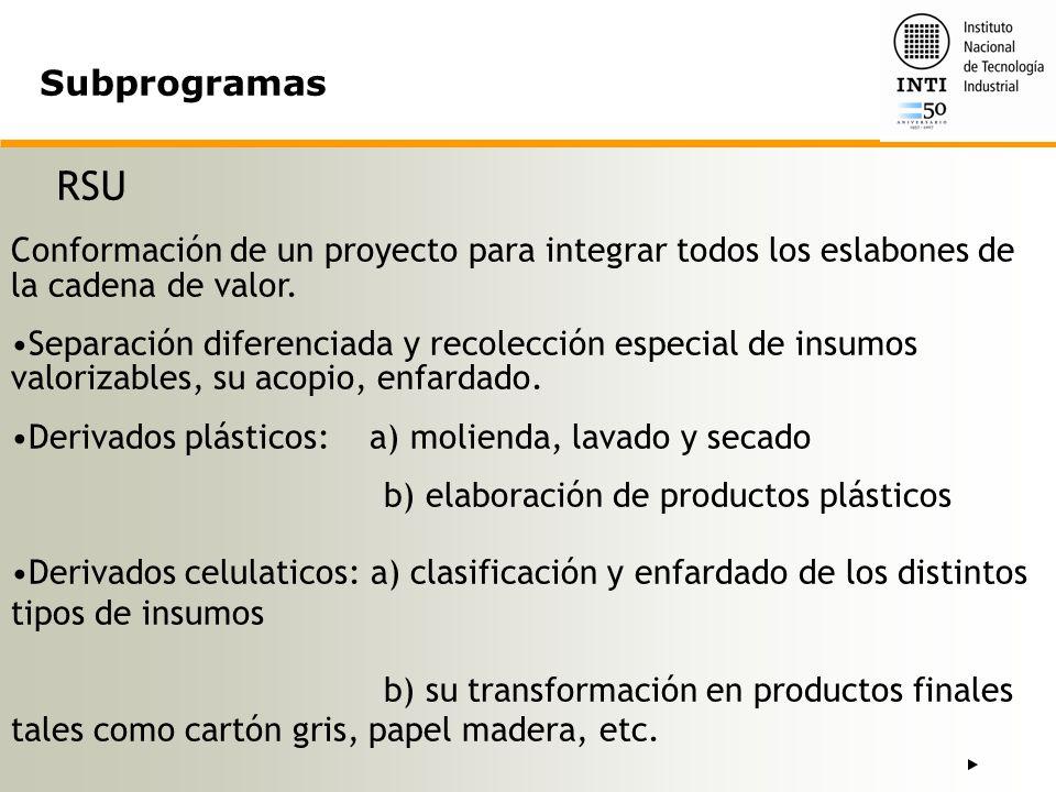 Acuerdo con el MTEySS y Municipios Proyectos de Fortalecimiento de Entramados Productivos Locales / Plantas Demostrativas.