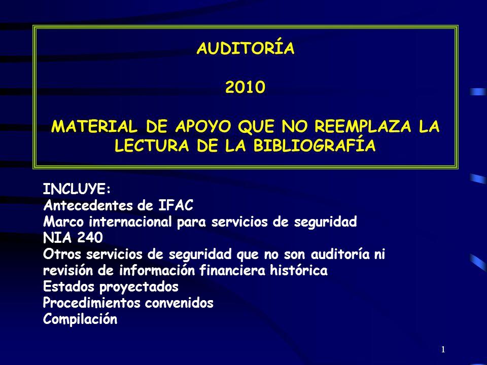 52 OTROS SERVICIOS DE SEGURIDAD POSIBLES DE PROVEER Adecuación del sistema contable a las necesidades del ente.