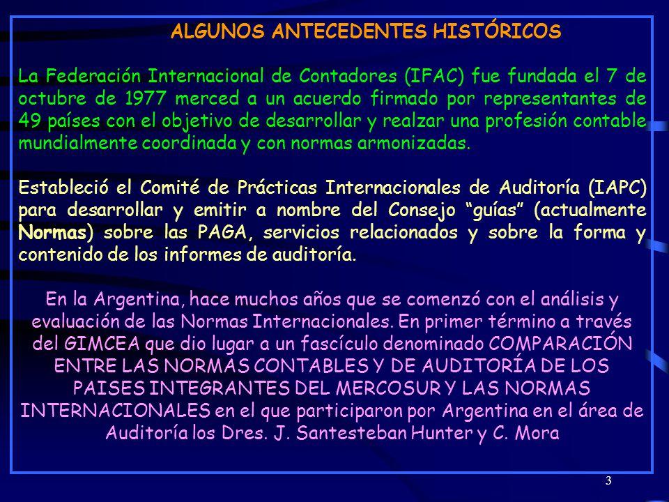 Cayetano Mora164 SERVICIOS RELACIONADOS NISR 4400 - TRABAJOS PARA REALIZAR PROCEDIMIENTOS CONVENIDOS RESPECTO DE INFORMACIÓN FINANCIERA