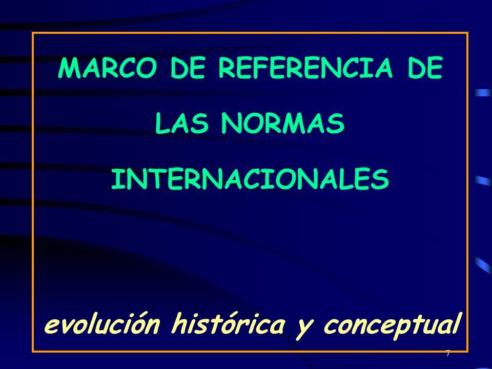 7 MARCO DE REFERENCIA DE LAS NORMAS INTERNACIONALES evolución histórica y conceptual