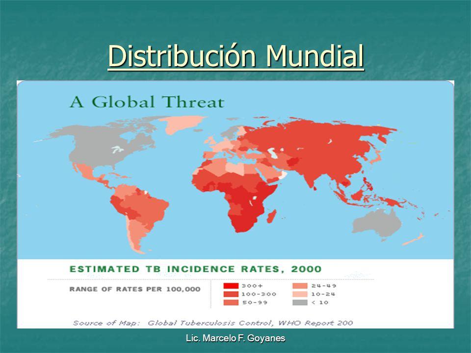 Lic. Marcelo F. Goyanes Distribución Mundial