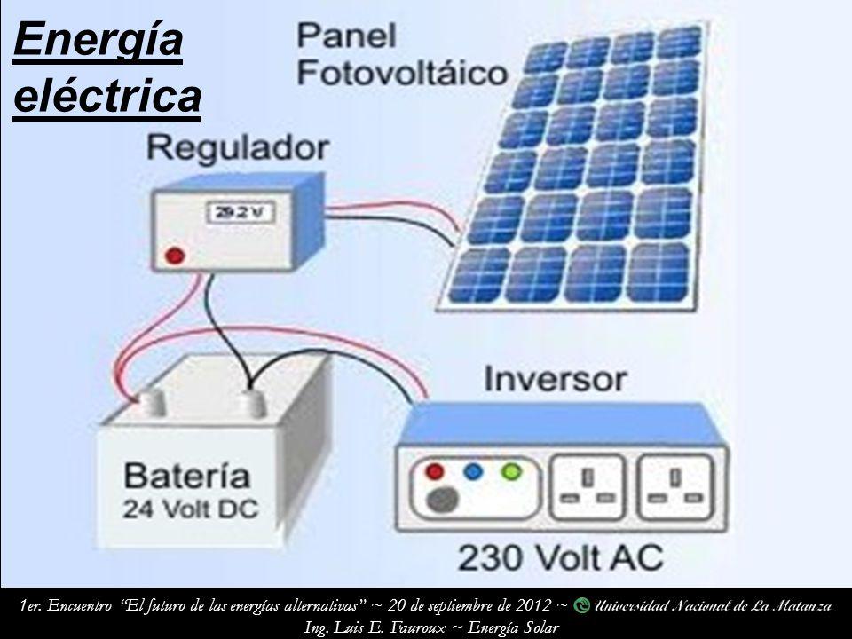 1er.Encuentro El futuro de las energías alternativas ~ 20 de septiembre de 2012 ~ Ing.