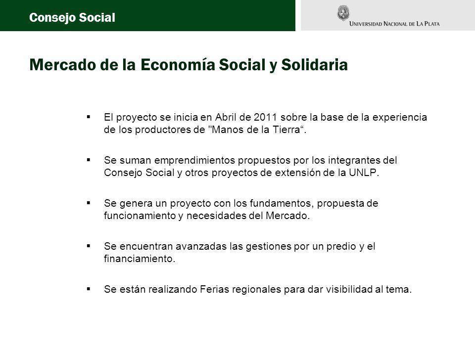 Mercado de la Economía Social y Solidaria El proyecto se inicia en Abril de 2011 sobre la base de la experiencia de los productores de Manos de la Tierra.