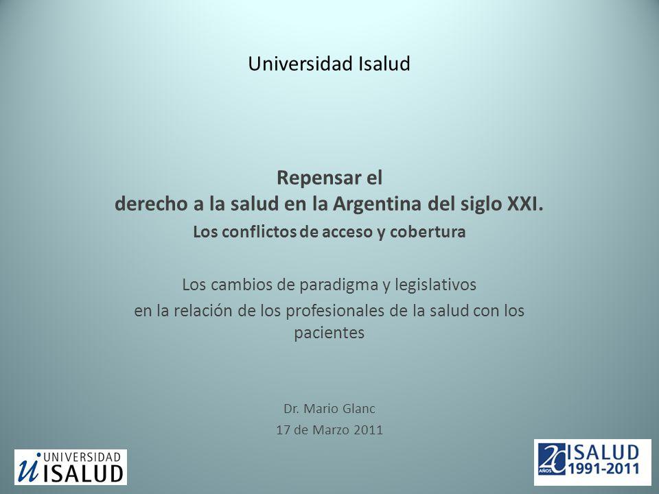 Universidad Isalud Repensar el derecho a la salud en la Argentina del siglo XXI.