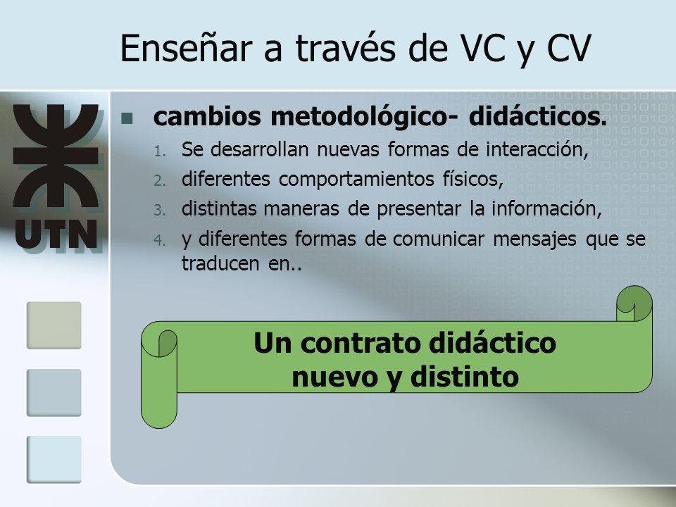 Enseñar a través de VC y CV cambios metodológico- didácticos.