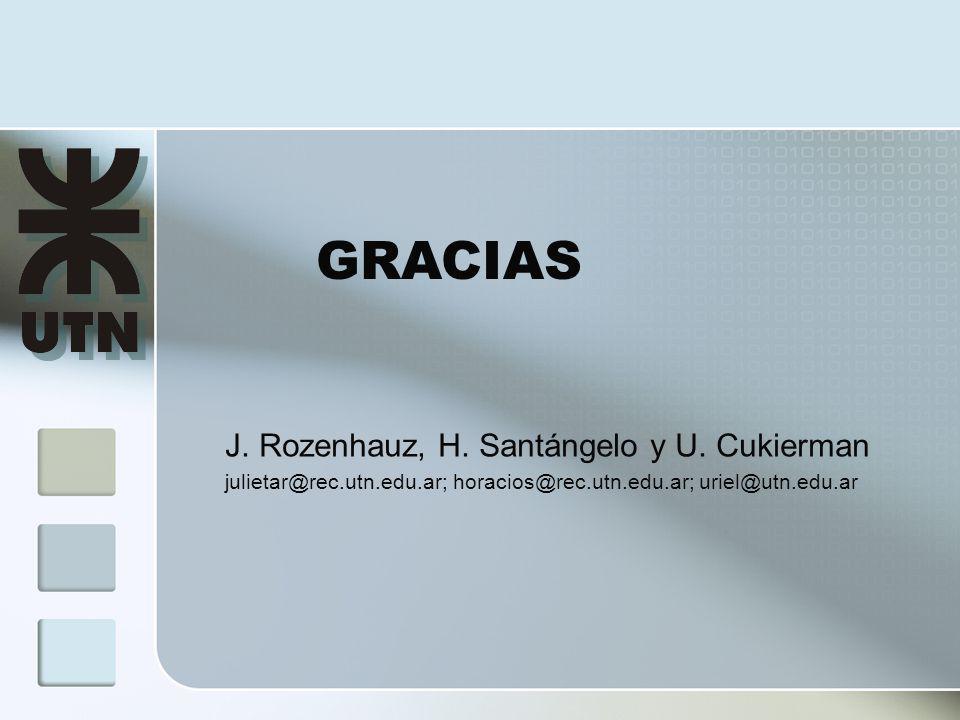 GRACIAS J.Rozenhauz, H. Santángelo y U.