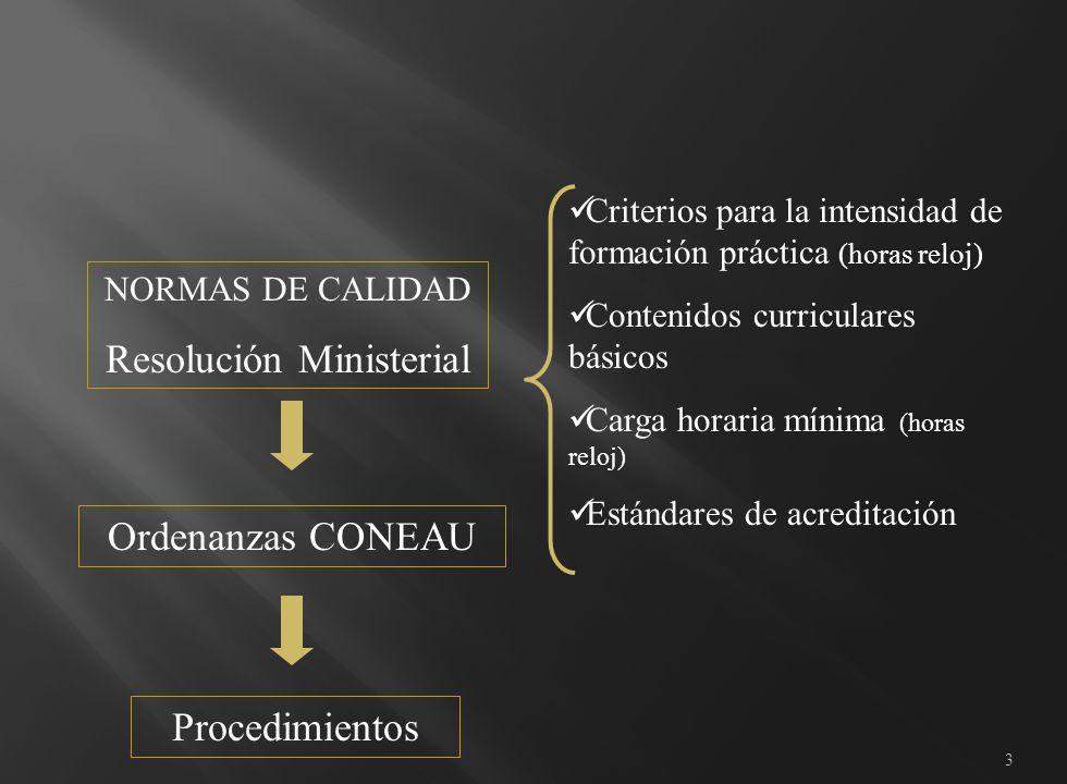 4 Autoevaluación Actuación del Comité de Pares Resolución de la CONEAU