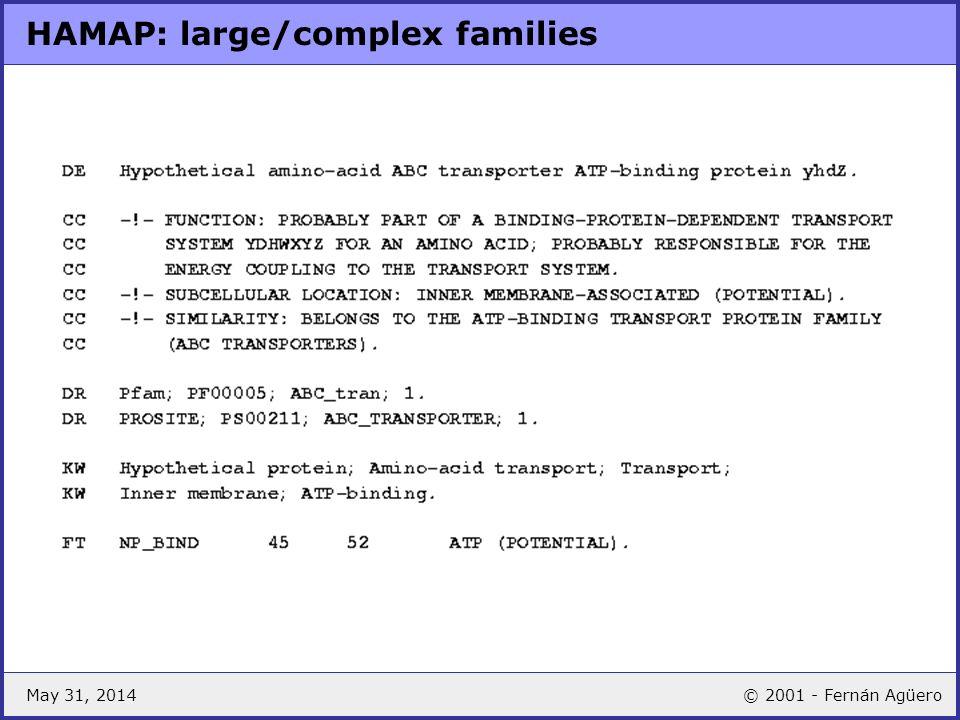 May 31, 2014© 2001 - Fernán Agüero HAMAP: large/complex families
