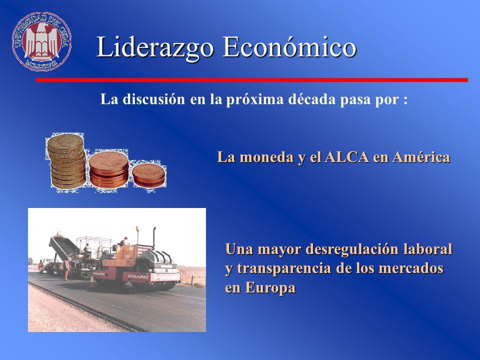 La moneda y el ALCA en América Una mayor desregulación laboral y transparencia de los mercados en Europa Liderazgo Económico La discusión en la próxim