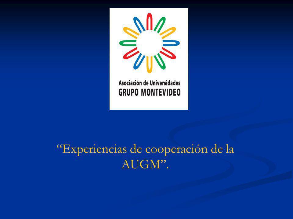 Experiencias de cooperación de la AUGM.