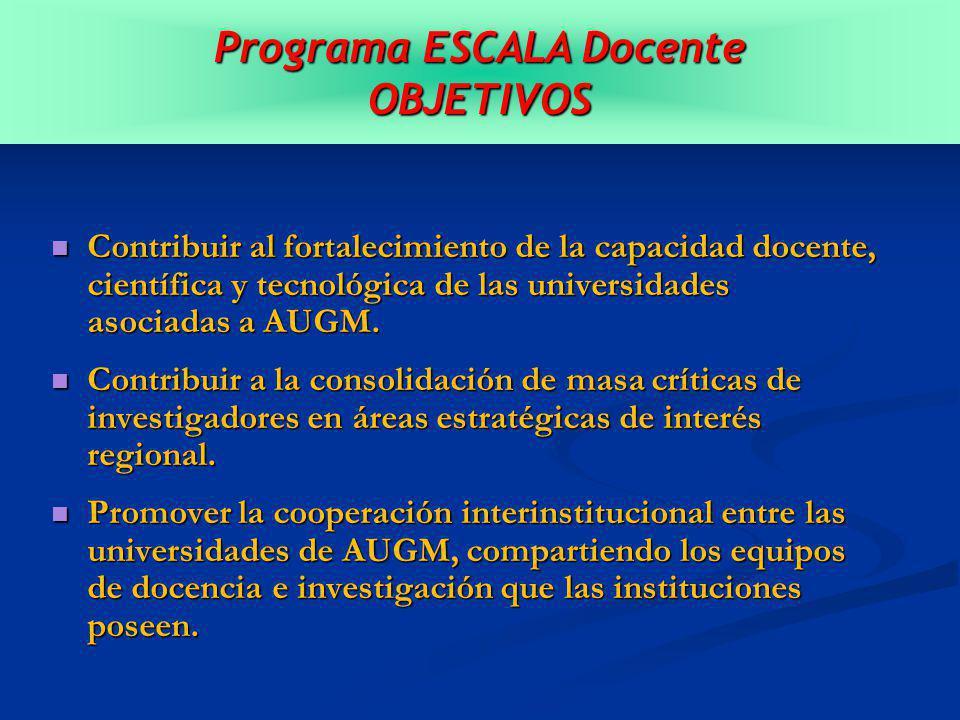 Contribuir al fortalecimiento de la capacidad docente, científica y tecnológica de las universidades asociadas a AUGM.