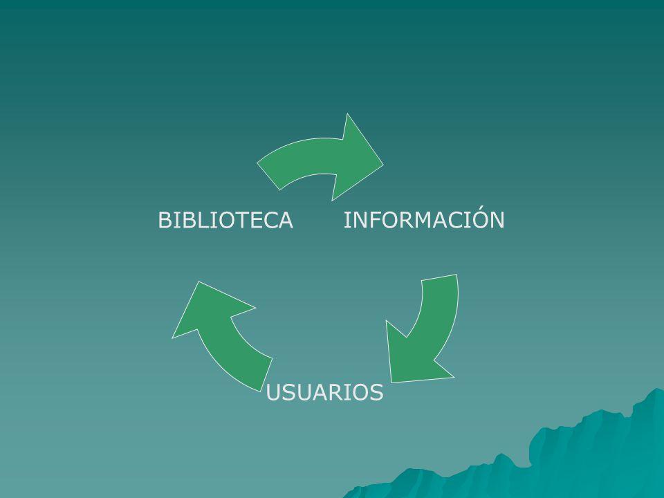 INFORMACIÓN USUARIOS BIBLIOTECA