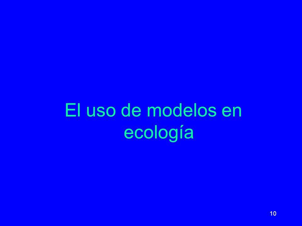 10 El uso de modelos en ecología