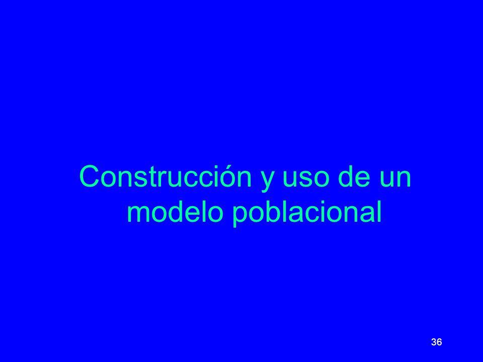 36 Construcción y uso de un modelo poblacional
