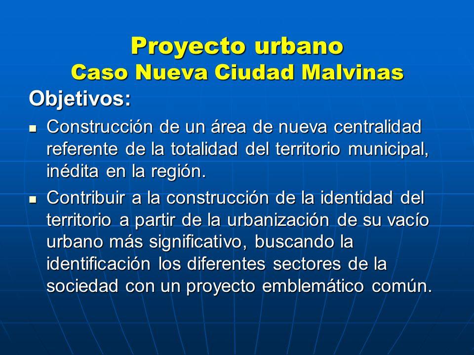 Objetivos: Construcción de un área de nueva centralidad referente de la totalidad del territorio municipal, inédita en la región.