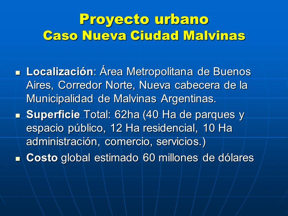Proyecto urbano Caso Nueva Ciudad Malvinas Localización: Área Metropolitana de Buenos Aires, Corredor Norte, Nueva cabecera de la Municipalidad de Malvinas Argentinas.