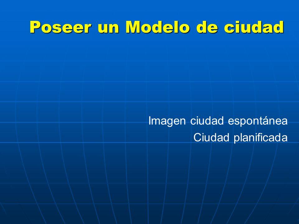 Poseer un Modelo de ciudad Imagen ciudad espontánea Ciudad planificada
