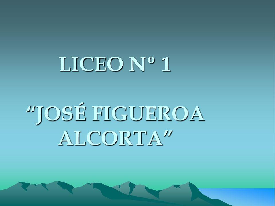 LICEO Nº 1 JOSÉ FIGUEROA ALCORTA