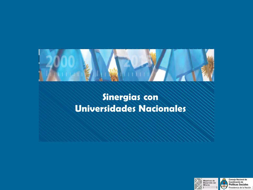 Sinergias con Universidades Nacionales