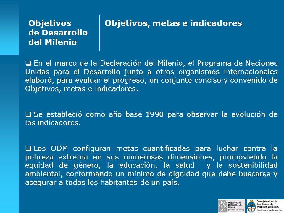 En el marco de la Declaración del Milenio, el Programa de Naciones Unidas para el Desarrollo junto a otros organismos internacionales elaboró, para ev