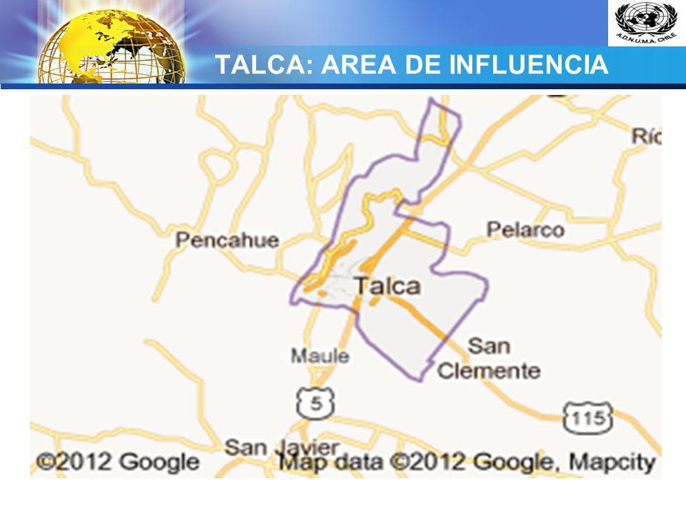 LOGO TALCA: AREA DE INFLUENCIA