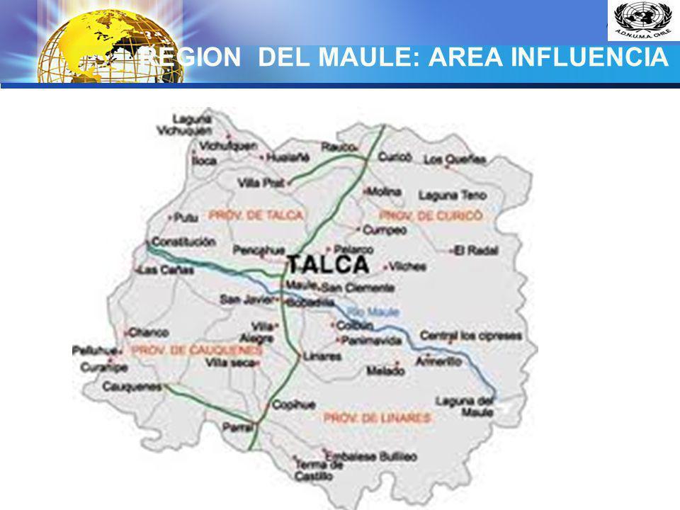 LOGO REGION DEL MAULE: AREA INFLUENCIA