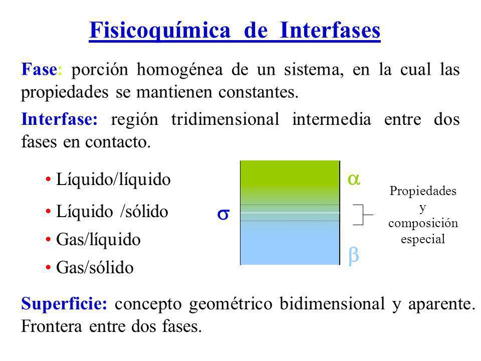 Fase: porción homogénea de un sistema, en la cual las propiedades se mantienen constantes.