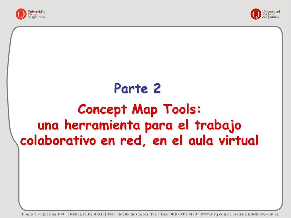 Concept Map Tools: una herramienta para el trabajo colaborativo en red, en el aula virtual Parte 2