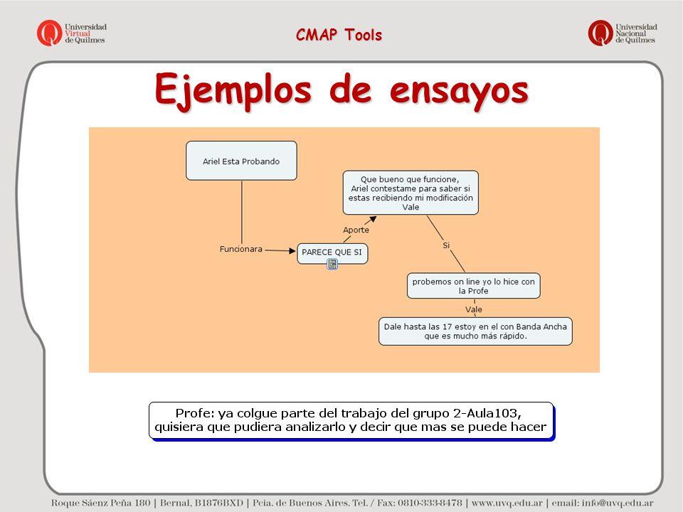 Ejemplos de ensayos CMAP Tools