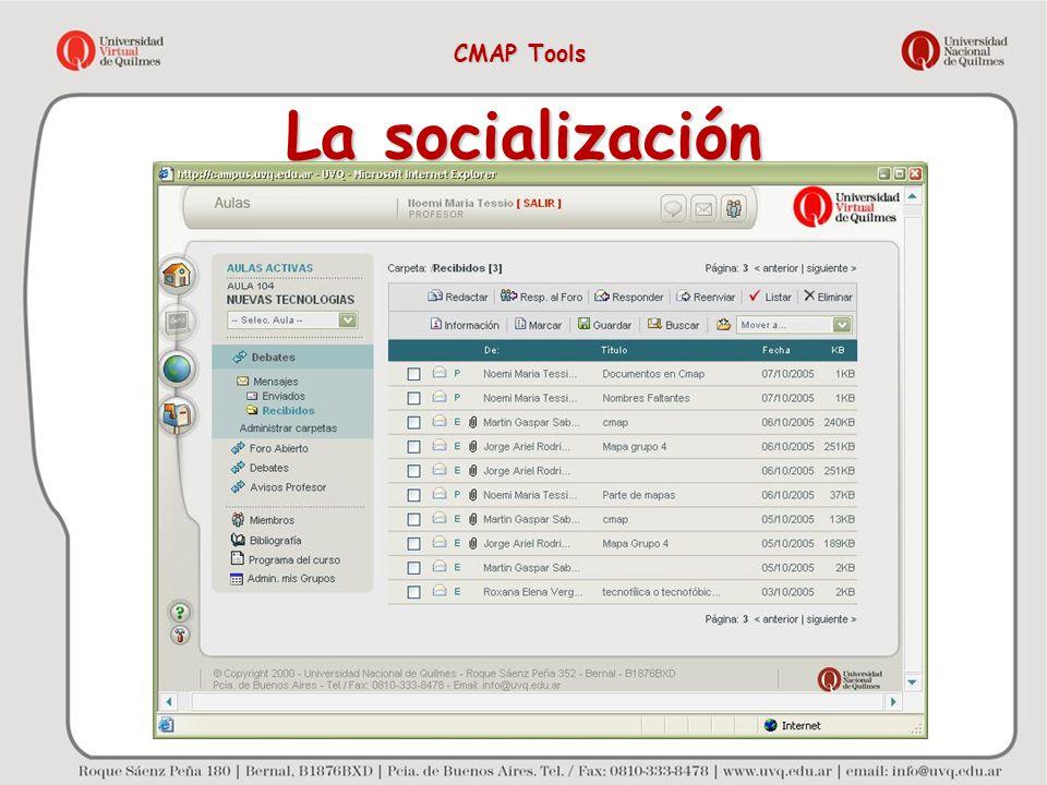 La socialización CMAP Tools