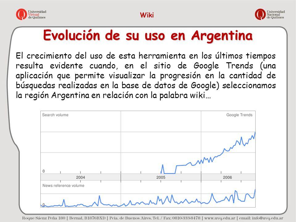 Evolución de su uso en Argentina El crecimiento del uso de esta herramienta en los últimos tiempos resulta evidente cuando, en el sitio de Google Tren