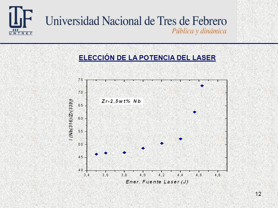 12 ELECCIÓN DE LA POTENCIA DEL LASER