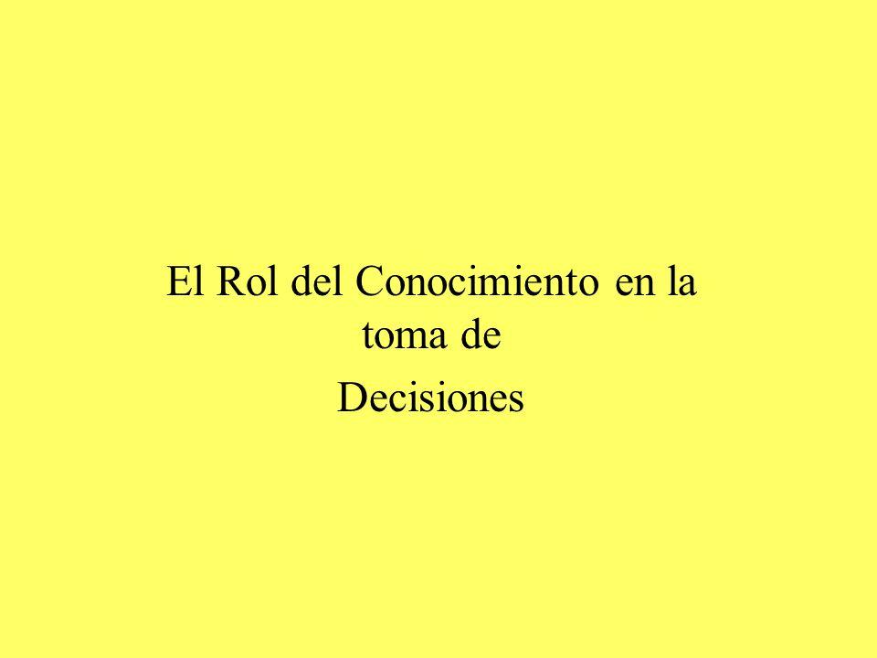 El Rol del Conocimiento en la toma de Decisiones