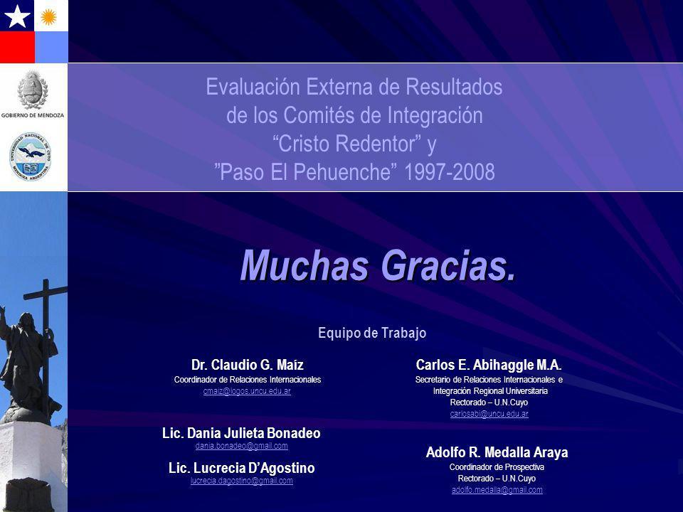Carlos E. Abihaggle M.A. Secretario de Relaciones Internacionales e Integración Regional Universitaria Rectorado – U.N.Cuyo carlosabi@uncu.edu.ar Much