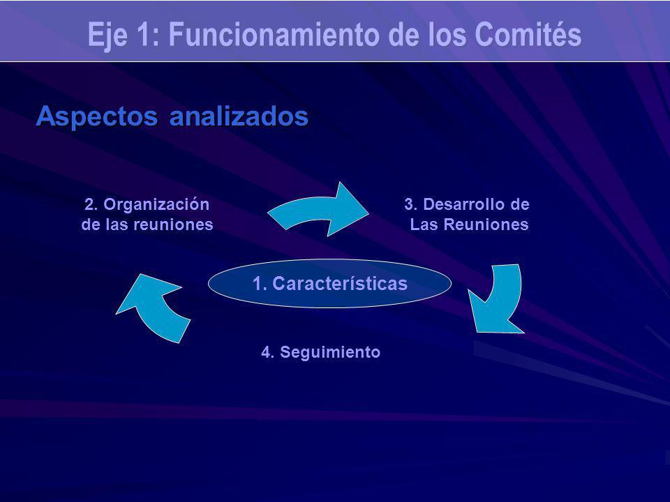 Eje 1: Funcionamiento de los Comités 1. Características Aspectos analizados